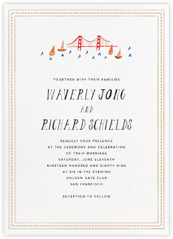 Miss Golden Gate (Invitation) - Mr. Boddington's Studio - Destination wedding invitations