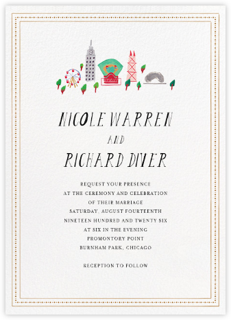 Miss Windy City (Invitation) - Mr. Boddington's Studio - Destination wedding invitations