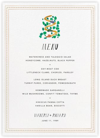Miss Golden Gate (Menu)  - Mr. Boddington's Studio - Wedding menus and programs - available in paper