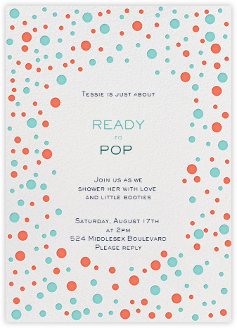 Bubbly for the Engaged - Fresh - Mr. Boddington's Studio - Baby shower invitations