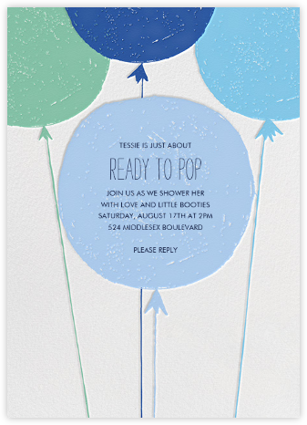 Floating with Love - Blue - Mr. Boddington's Studio - Baby Shower Invitations