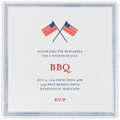 Paul Revere - Ocean - Mr. Boddington's Studio - Summer Party Invitations