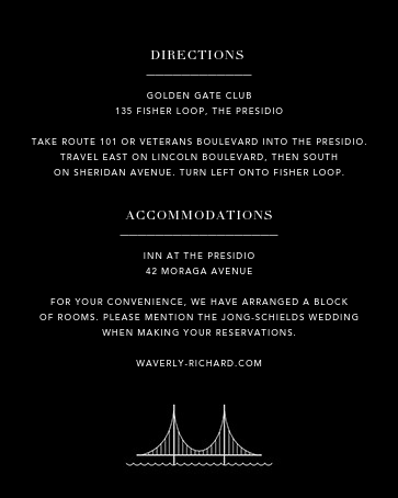San Francisco Skyline View (Invitation) - Black/White - Paperless Post - All - insert front