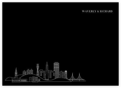 San Francisco Skyline View (Stationery) - Black/White   null