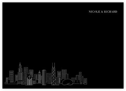 Chicago Skyline View (Stationery) - Ivory/Black - Paperless Post