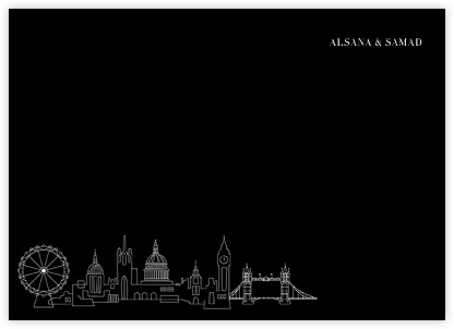 London Skyline View (Stationery) - Black/White - Paperless Post -