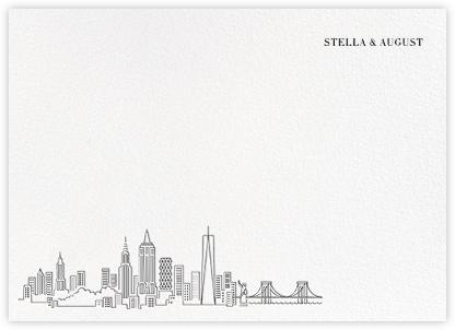 Manhattan Skyline View (Stationery) - White/Black | null