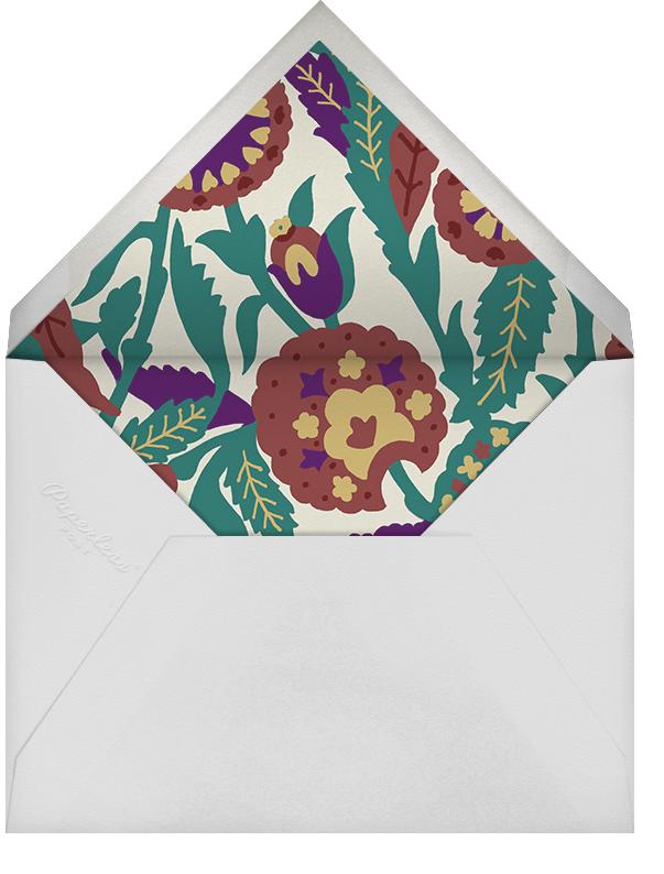 Spanish Garden (Stationery) - Merlot Olive - Oscar de la Renta - Personalized stationery - envelope back