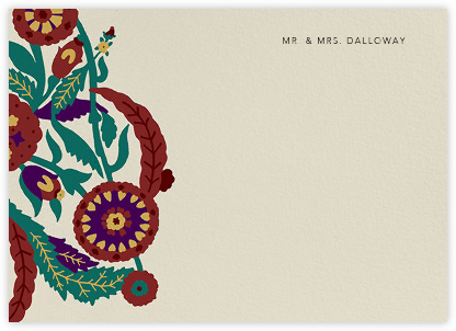 Spanish Garden (Stationery) - Merlot Olive - Oscar de la Renta -