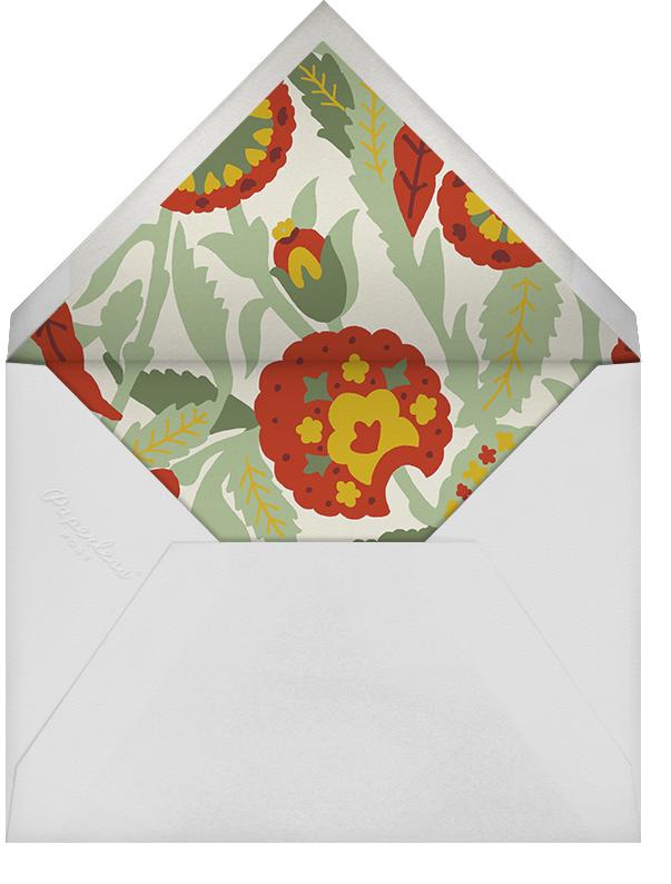 Spanish Garden (Stationery) - Red Plum - Oscar de la Renta - Personalized stationery - envelope back