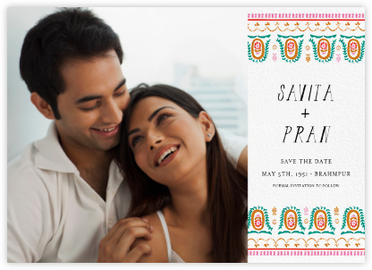 Miss Anupama (Photo Save the Date) - Mr. Boddington's Studio - Save the date cards and templates