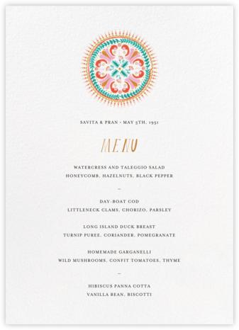 Miss Anupama (Menu) - Mr. Boddington's Studio - Wedding menus and programs - available in paper