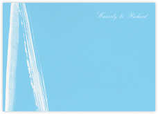 Gesso II (Stationery) - Ivory/Light Blue