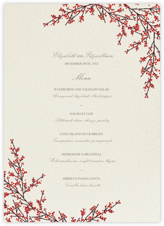 Cranberry (Menu) - Felix Doolittle -