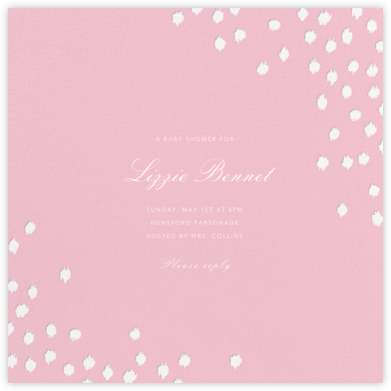 Ikat Dot (Square) - Light Pink - Oscar de la Renta - Baby Shower Invitations