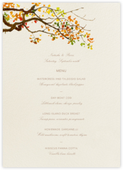 Autumn Boughs (Menu)