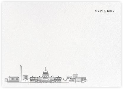 D.C. Skyline View (Stationery) - White/Black   null