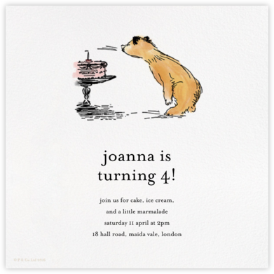 Birthday Bear - Paddington Bear - Invitations