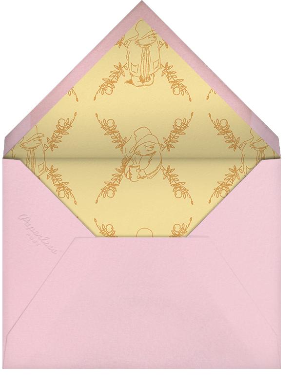 Garden Shower - Ivory - Paddington Bear - Woodland baby shower - envelope back