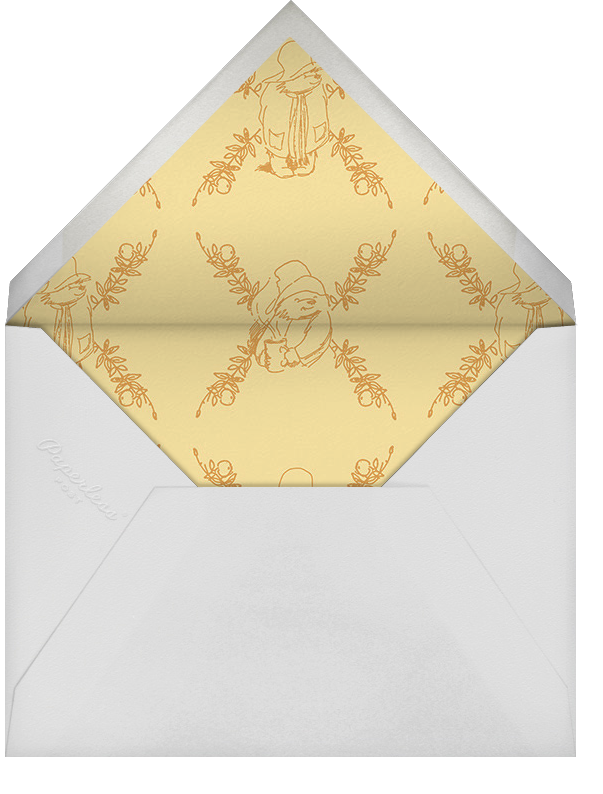 Garden Shower - Pink - Paddington Bear - Woodland baby shower - envelope back