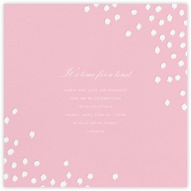 Ikat Dot (Square) - Light Pink - Oscar de la Renta - Engagement party invitations