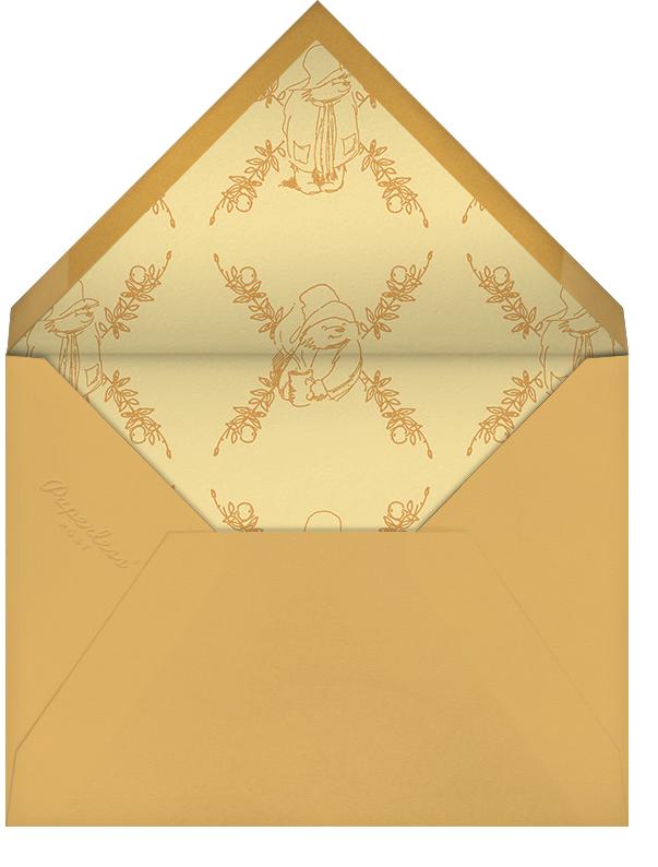 Time for Tea - Paddington Bear - Baby shower - envelope back