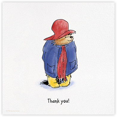 Presenting Paddington (Thank You) - Paddington Bear - Online Thank You Cards