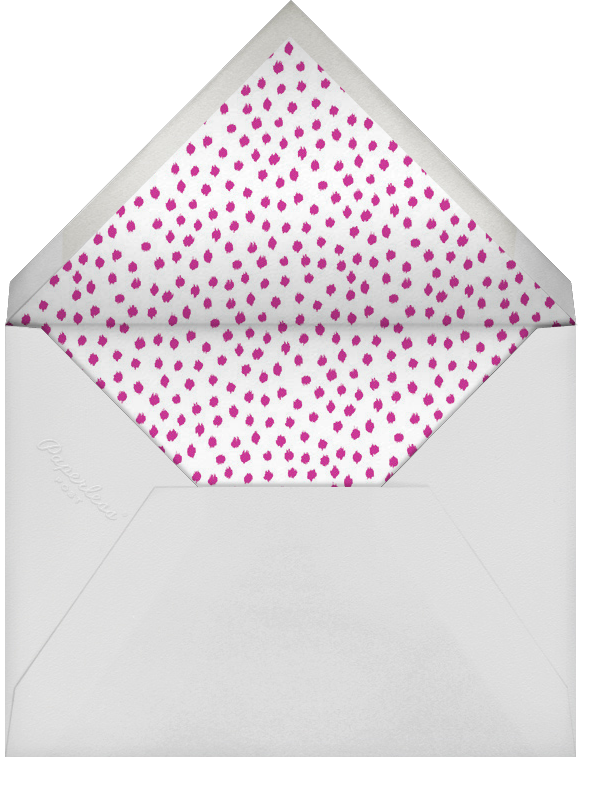 Ikat Dot - Magenta/Ivory - Oscar de la Renta - Bat and bar mitzvah - envelope back