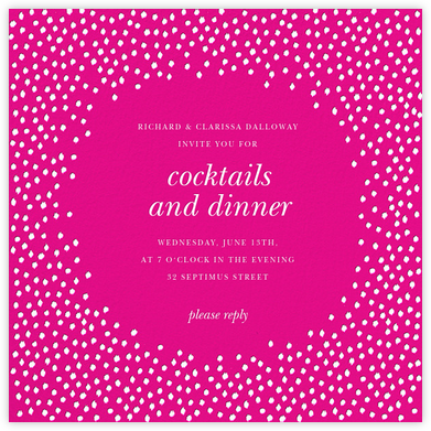 Ikat Dot - Magenta/Ivory - Oscar de la Renta - Dinner party invitations