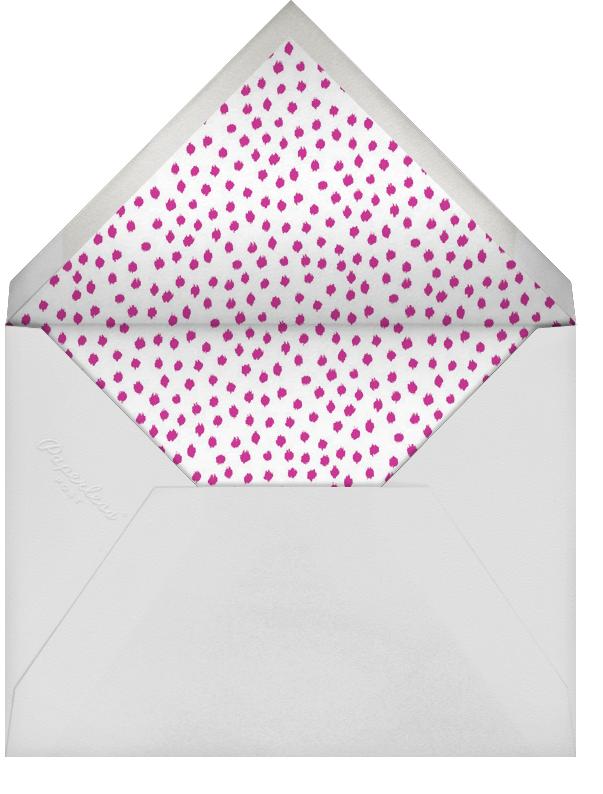 Ikat Dot - Magenta - Oscar de la Renta - Adult birthday - envelope back