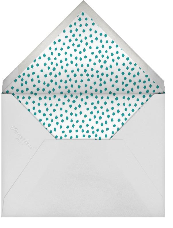 Ikat Dot - Teal/Ivory - Oscar de la Renta - Bridal shower - envelope back
