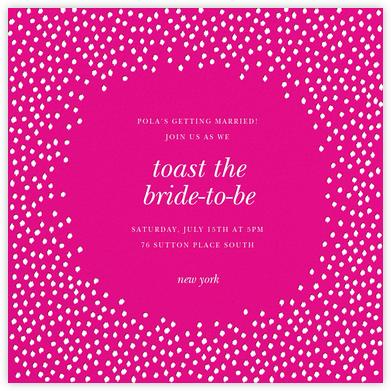 Ikat Dot - Magenta/Ivory - Oscar de la Renta - Bridal shower invitations