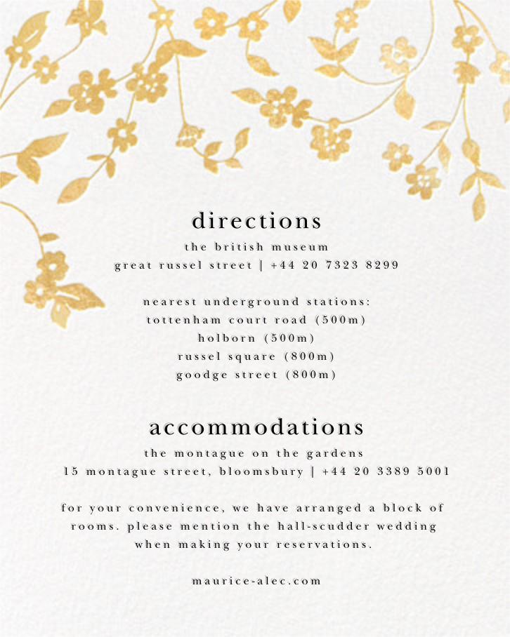 Floral Trellis II - White/Gold - Oscar de la Renta - All - insert front