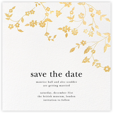 Floral Trellis (Save the Date) - Gold - Oscar de la Renta -