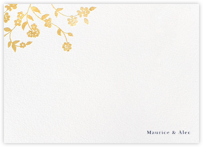 Floral Trellis II (Stationery) - Gold | null