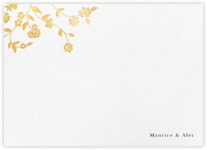 Floral Trellis II (Stationery) - Gold - Oscar de la Renta -