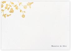 Floral Trellis II (Stationery) - Gold