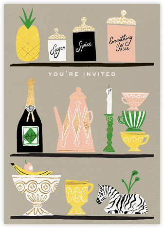 Kitchen Shelves (Invitation) - kate spade new york - Celebration invitations