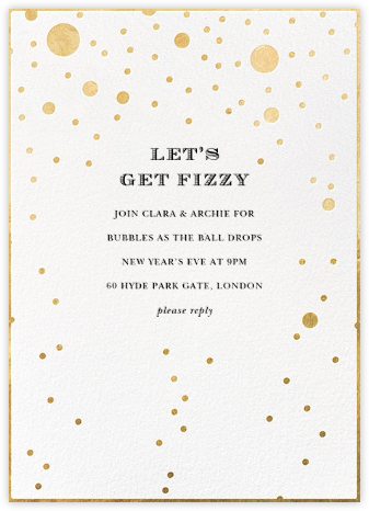 Champagne Bubbles (Single-Sided) - kate spade new york - New Year's Eve