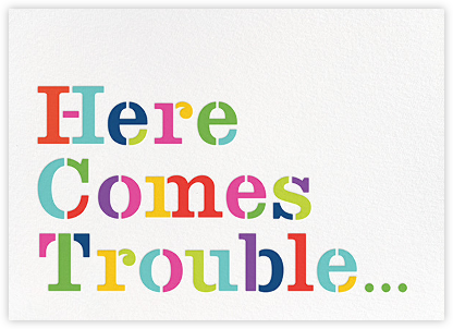 Here Comes Trouble - kate spade new york - Online Baby Shower Invitations