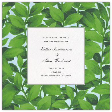 Hedge (Save the Date) - Oscar de la Renta -