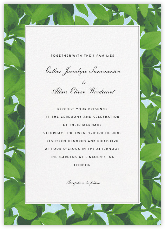 Hedge (Invitation) - Oscar de la Renta - Wedding Invitations
