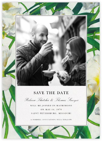 Parrot Tulip (Photo Save the Date) - Oscar de la Renta - Save the dates