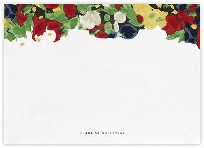 Isabela Floral (Horizontal) - Oscar de la Renta - Personalized Stationery