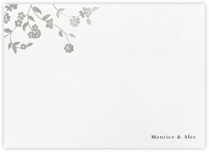 Floral Trellis II (Stationery) - Silver | null