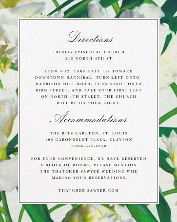 Parrot Tulip (Invitation) - Oscar de la Renta - Printable invitations - insert front