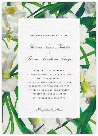 Parrot Tulip (Invitation) - Oscar de la Renta - Destination wedding invitations