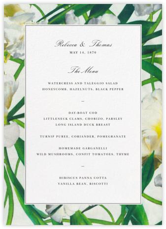 Parrot Tulip (Menu) - Oscar de la Renta - Wedding menus and programs - available in paper