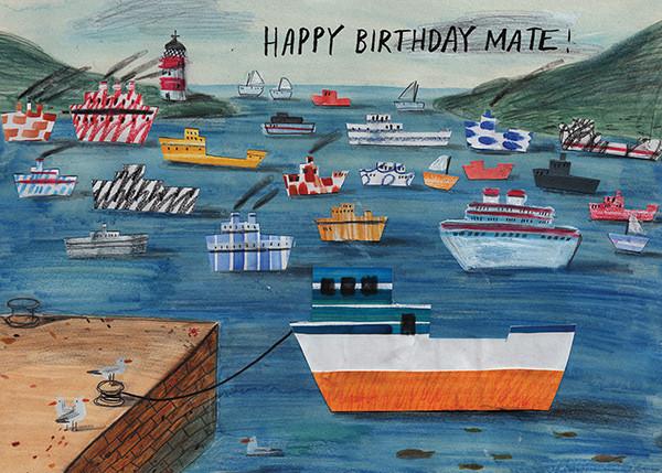 Birthday Mate (Lizzy Stewart) - Red Cap Cards - Birthday cards