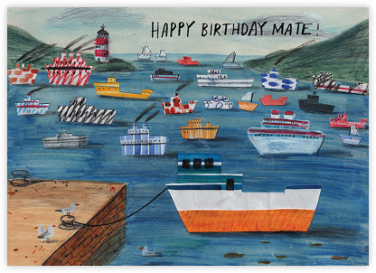 Birthday Mate (Lizzy Stewart) - Red Cap Cards - Birthday Cards for Him